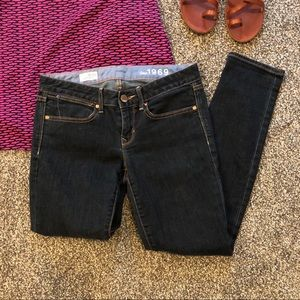 Gap dark wash always skinny jeans